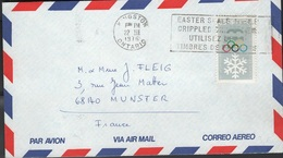 JO76-H/L5 - CANADA Lettre Par Avion Affr. Jeux Olympiques Innsbruck 1976 - 1952-.... Règne D'Elizabeth II