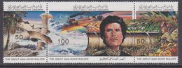 Libye N° 1287 / 89 XX Construction D'un Aqueduc, Les 3 Valeurs Se Tenant Sans Charnière, TB - Libyen
