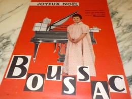 ANCIENNE  PUBLICITE JOYEUX NOEL TISSUS BOUSSAC  1956 - Vintage Clothes & Linen