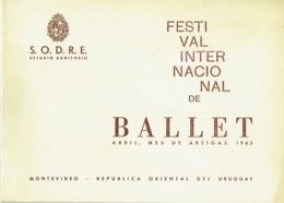 Programme. Festival Internacional De Ballet. Montevideo.Ballet Du XXè. Siècle, Maurice Béjart, Directeur Artistique.1963 - Programs