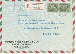 BAZAR DO POVO , HENRIQUE A. RODRIGUES ,  Funchal  1972 Postmark ,  Registration Label - Postmark Collection