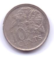 TRINIDAD & TOBAGO 2001: 10 Cents, KM 31 - Trinité & Tobago