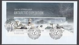 AUSTRALIE AAT 2013 FDC Australasian Antarctic Expedition 1913 Disaster & Isolation (minisheet) - FDC
