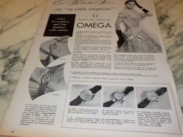 ANCIENNE PUBLICITE EN ROBE DU SOIR  OMEGA 1956 - Jewels & Clocks