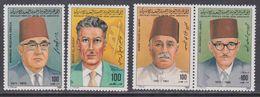 Libye N° 1301 / 04 XX Journée De L'enseignant, Portraits De Professeurs, Les 5 Vals (1303 Et 1304 Se Tenant) Ss Ch., TB - Libyen