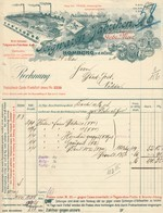 "HOMBURG V.d.Höhe Rechnung 1914 Deko "" Teigwarenfabrik Gebr.Morr "" - Alimentaire"
