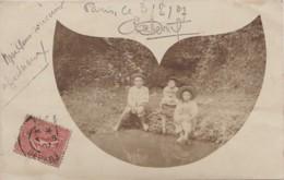 """47) SOS - LIEU DIT """"AUX PONCHES """" CARTE PHOTO - FONTAINE DU CASSE - ENFANTS - CORRESPONDANCE A LIRE - (2 SCANS) - Autres Communes"""