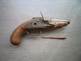 Beau Pistolet Du XVIIIème Siècle - Armes Neutralisées