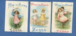 ZEBRA Mine De Plomb Reckitt Hull Angleterre Trois Chromos Enfants Jeu Volant Bord Mer Sable - Other