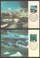 AUSTRALIE AAT 1989 4 MAXICARDS NOLAN Landscapes - Maximumkarten