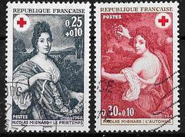 Poste1968-croix-rouge-YT 1580/81-OBL - France