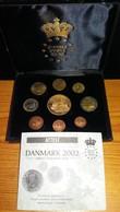 JUEGO COMPLETO 9 MONEDAS DE PRUEBA DE EUROS DE DINAMARCA DEL AÑO 2002 SOLO 20000 UNIDADES - Denmark