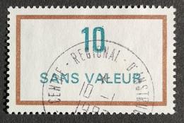 France Fictif N° F236 Oblitéré, Très Rare En Oblitéré. Cote 2020 : 1,00 Euro. Voir Les 2 Photos - Fictifs