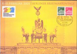 Deutschland Germany Allemagne - Sonderblatt Zu Den Berliner Briefmarkentagen 8.-11.2001 (MiNr: W 28) 2001 - Covers & Documents