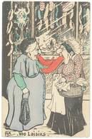 Cpa Fantaisie, Fox, Vos Loisirs ( Femmes Avec Grosses Langues Devant Charcuterie ) ( FA ) - Mujeres