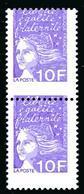 MARIANNE DE LUQUET 10 F - YT N° 3099 - PIQUAGE A CHEVAL - NEUF SANS CHARNIERE - Errors & Oddities