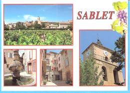 Sablet-Route Du Vin (Vaison La Romaine-Vaucluse-Provence)-Multivues-Village-Eglise-Fontaine-Ruelle - Vaison La Romaine