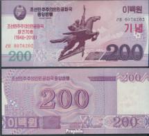 Nord-Korea Pick-Nr: CS NEW Bankfrisch 2018 200 Won - Korea, Noord