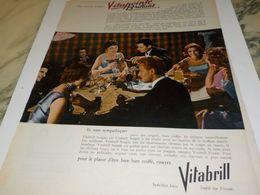 ANCIENNE PUBLICITE CHEVEUX VITAPOINTE DE VITABRILL  1956 - Parfums & Beauté