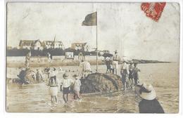 "CPA 17 ROYAN  :  Conche De Pontaillac - Fort En Sable Marée Montante - Photo ""Sorignet""  1910? - Royan"