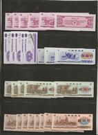 CHINE -50 BILLETS ANNEE 1981 - 5 VALEURS -10 DE CHAQUE -ETAT NEUF - China