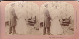 STEREO PHOTO  KILBURN YEAR 1897 / I WILL BE THINE FOREVER - Stereoscopic