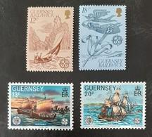 GUERNESEY   Europa 1981 Et 1982  N° Y&T  217, 218, 248 Et 249  ** - Guernsey