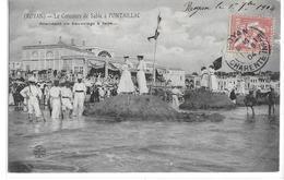 CPA 17 ROYAN  :  Conche De Pontaillac - Concours De Forts Sable - En Attendant Un Sauvetage   1904 - Royan