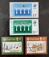 GUERNESEY   Europa 1984 Et 1985   N° Y&T  286, 287, 322 Et 323  ** - Guernsey