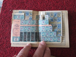 RARE CARTE DE RATIONNEMENT AVEC SES TICKETS 1946 DEPARTEMENT HAUTE-SAVOIE Au Nom De JON Roland - Alimentaire