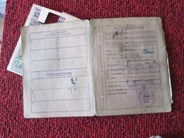 RARE CARTE DE RATIONNEMENT AVEC SES TICKETS 1946 DEPARTEMENT HAUTE-SAVOIE Au Nom De BLANC De Poulet René - Alimentaire