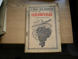 A Munka Olcso Nepkontvtara 1935 Szolomuveles Grape Growing Szabadka Subotica  100 Pages - Old Books