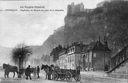 BESANCON - Edition Reuchet N° 14.  Faubourg Rivotte Au Pied De La Citadelle. Bon état - Besancon