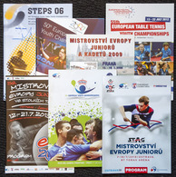= 2006 / 2019 - Lot De 7 Programmes Championnats Europe Jeunes - Tennis Table Tischtennis Tavolo - Tenis De Mesa