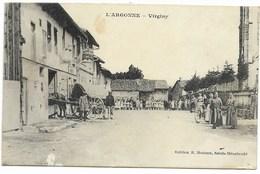 51-VIRGINY-Centre Village...  Animé  Enfants Des Ecoles...  (pelurage) - France