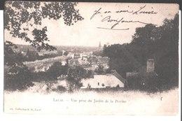 Laval. Vue Prise Du Jardin De La Perrine. à Melle Louise Bouch Gullion ? ( Gullian ?) à Paris. 1903 . - Laval