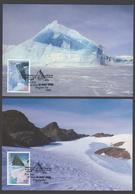AUSTRALIE AAT 1996 4 MAXICARDS Extreme Land Forms - Maximumkarten