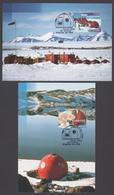 AUSTRALIE AAT 1997 5 MAXICARDS La Base D'Anare - Maximumkarten