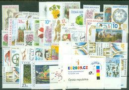 2008 Czech Republic MNH Year Set=42 Stamps + 6 Ss + 10 KB + 3 MH - Tchéquie
