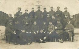 RARE CARTE PHOTO - 96° REGIMENT D' INFANTERIE DE BEZIERS - PERSONNELS ADMINISTRATIFS - BUREAU DU TRESORIER - Guerre 1914-18