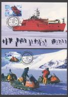 AUSTRALIE AAT 1998 4 MAXICARDS Moyens De Transport - Maximumkarten
