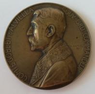 Médaille Comte Goblet D'Alviella Grd Commandeur Signée Ch Samuel 1907 - Royal / Of Nobility