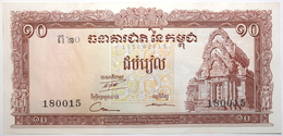 Cambodge - 10 Riels - 1962 - PICK 11d - SPL - Cambodia