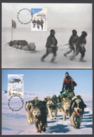 AUSTRALIE AAT 2001 4 MAXICARDS Centenaire 1901-2001 De L'Australie En Antarctique - Maximumkarten