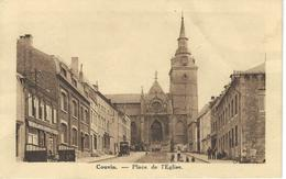 COUVIN : Place De L'Eglise - VARIANTE PEU COURANTE - Cachet De La Poste 1935 - Couvin