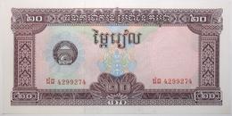 Cambodge - 20 Riels - 1979 - PICK 31a - NEUF - Kambodscha