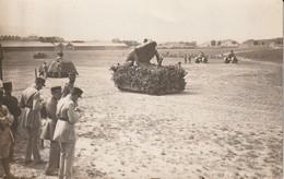 Carte Photo Militaria à Identifier- Camp Militaire Avec Chars Déguisés En Grenouille, Tortue -Phot. Blain Fr. Valence 26 - Postcards