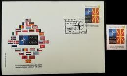 MACEDONIA NORTH 2020 MACEDONIA IN NATO  MNH + FDC - Mazedonien