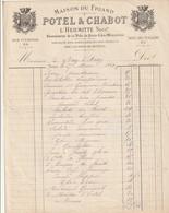 """PARIS 28 R. Vivienne - 25 Bd Des Italiens : Facture Illustrée De La Maison Du Friand """"POTEL & CHABOT"""" Spécialité Pour - France"""