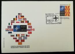 MACEDONIA NORTH 2020 MACEDONIA IN NATO  FDC - Mazedonien